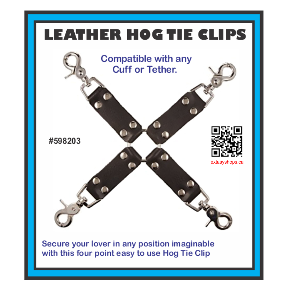 4-Way Leather Hogtie Clips